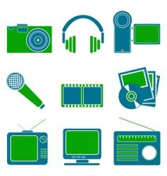 entertainment symbols vector image vector image