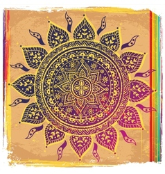 Ethnic purple ornament vector image vector image