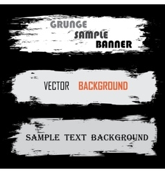 Grunge white banners with text vector image vector image