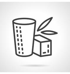 Herbal tea simple line icon vector image vector image