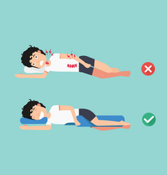 orthopedic pillowsfor a comfortable sleep vector image vector image