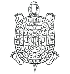 thai yantraThai traditional tattooturtle vector image vector image