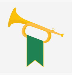 trumpet with green vector image