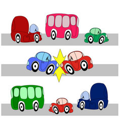 accident of two cars vector image