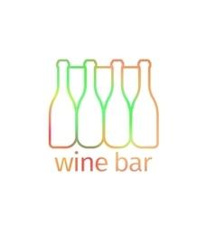Logo design for bar with bottles vector image vector image