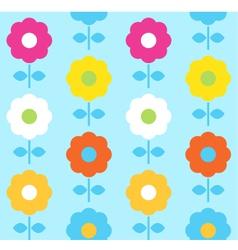 Spring flower seamless pattern design vector image