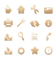 Universal set of icons one vector