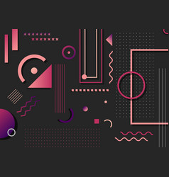 abstract trendy pink and purple geometric shape vector image