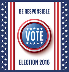 american election 2016 background vector image