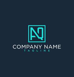 Aq qa initial logo luxury design inspiration vector