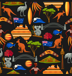 Australia seamless pattern australian traditional vector