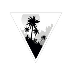 beautiful tropical scenery with palm trees vector image