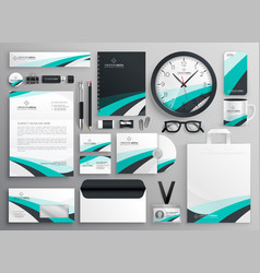 Big set of business stationery items vector