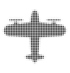 Black dot aircraft icon vector