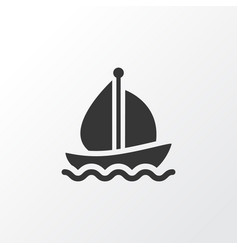 boat icon symbol premium quality isolated sail vector image
