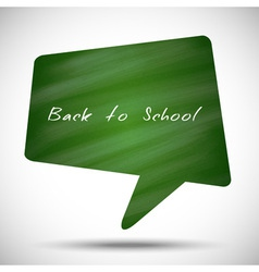 Bubble Back to School Green Chalkboard Background vector image