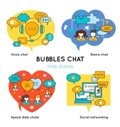 Bubbles Chat Linear Compositions vector image vector image