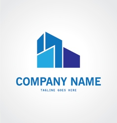 Building abstract logo vector