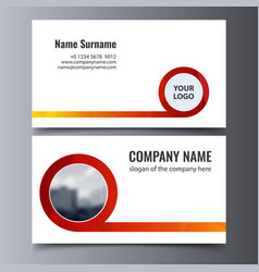 business card template creative corporate vector image
