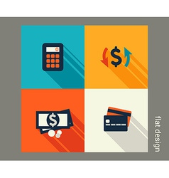 Business icon set Finance and banking e-commerce vector