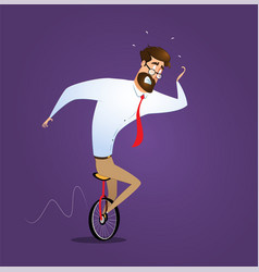 business man on a wire risk management concept vector image