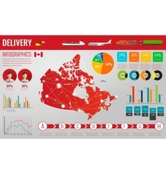 Canada transportation and logistics Delivery and vector