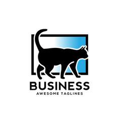 cat logo design vector image