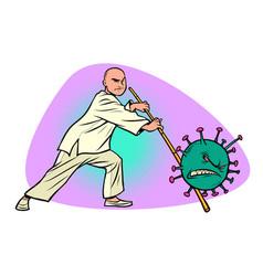 China victory in epidemic coronavirus covid19 vector
