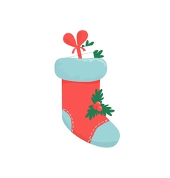 Christmas boots on a white vector image