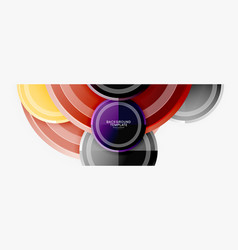 circle geometric abstract background template for vector image