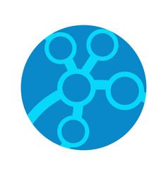 circular linked technology logo graphic design vector image