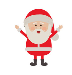 Colorful silhouette of santa claus with open arms vector