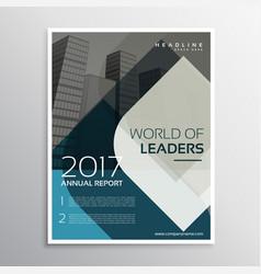 Company business brochure leaflet template design vector
