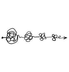 confusion clarity or path idea concept vector image
