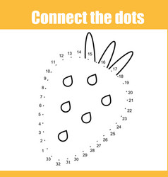 connect the dots by numbers children educational vector image