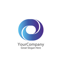 corporate business finance logo square loop vector image