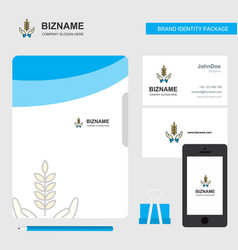 crops in hands business logo file cover visiting vector image