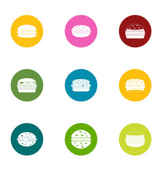 Cutlet icons set flat style vector