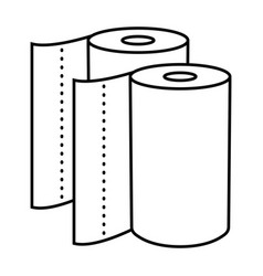 Disposable paper towel line art icon for apps vector