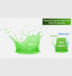 Double layer water splash crown vector