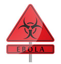 ebola danger poster vector image