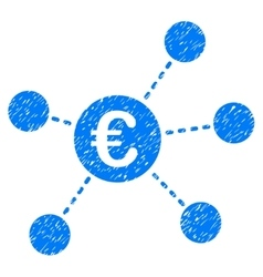 Euro Virtual Links Grainy Texture Icon vector