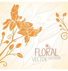 flowers orange vector image