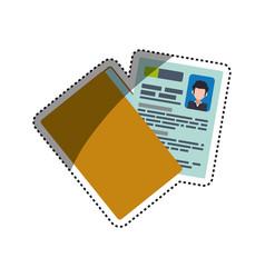 Folder document cv vector