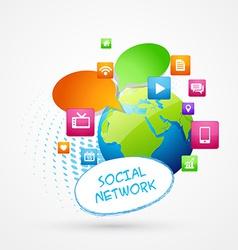 Global social media vector