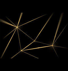 Gold and black background luxury texture vector