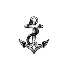 hand drawn anchor vector image
