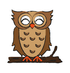happy cute owl icon imag vector image