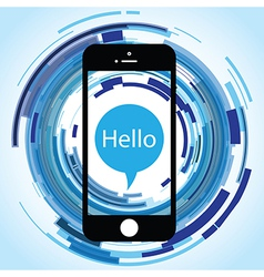 hello phone abstract vector image
