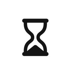 hourglass icon simple black sandglass symbol vector image